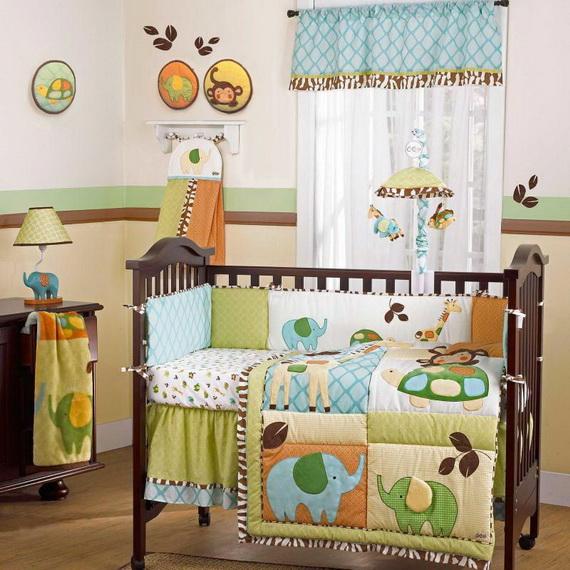 Monkey Baby Crib Bedding Theme and Design Ideas _02