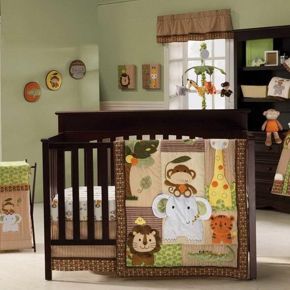 Monkey Baby Crib Bedding Theme and Design Ideas _04