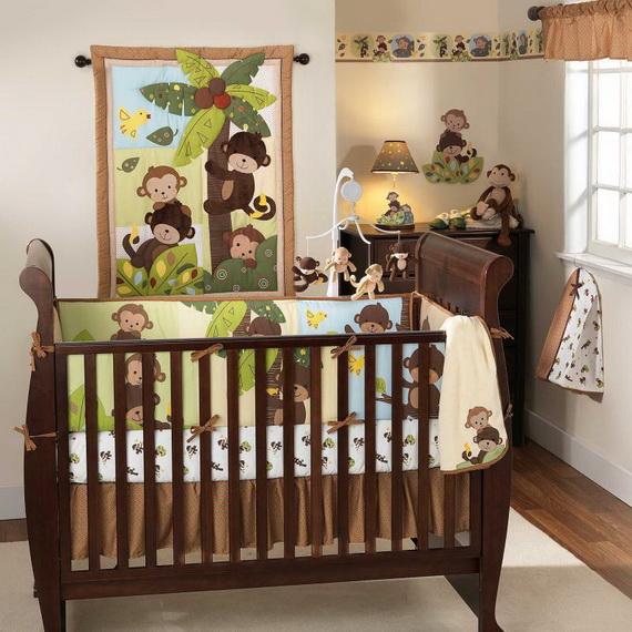 Monkey Baby Crib Bedding Theme and Design Ideas _10