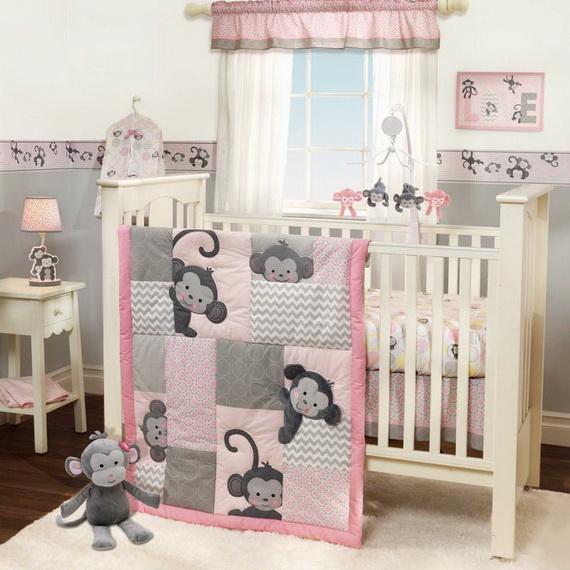 Monkey Baby Crib Bedding Theme and Design Ideas _14