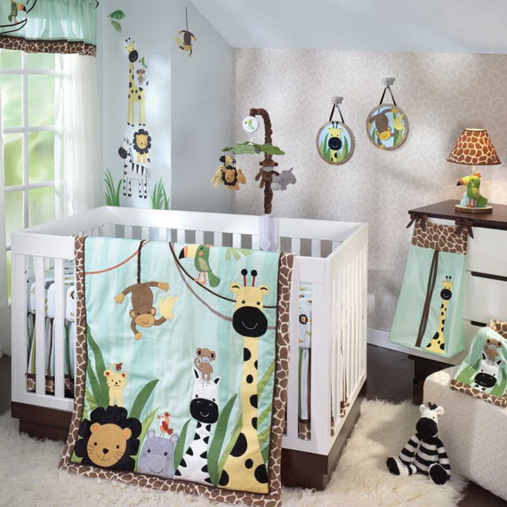 Monkey Baby Crib Bedding Theme and Design Ideas _18