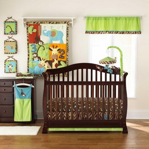 Monkey Baby Crib Bedding Theme and Design Ideas _25