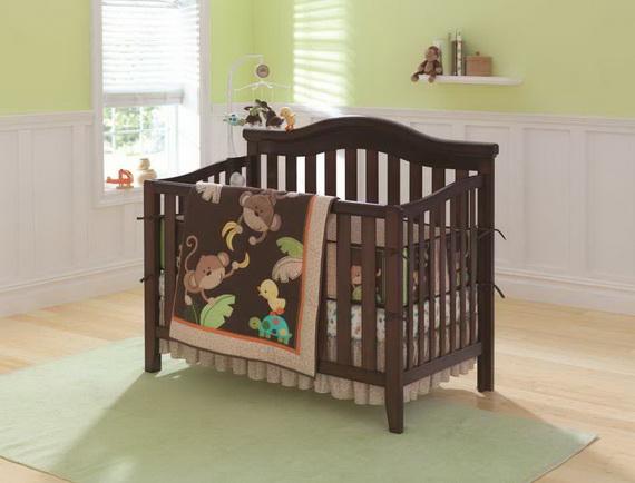 Monkey Baby Crib Bedding Theme and Design Ideas _28