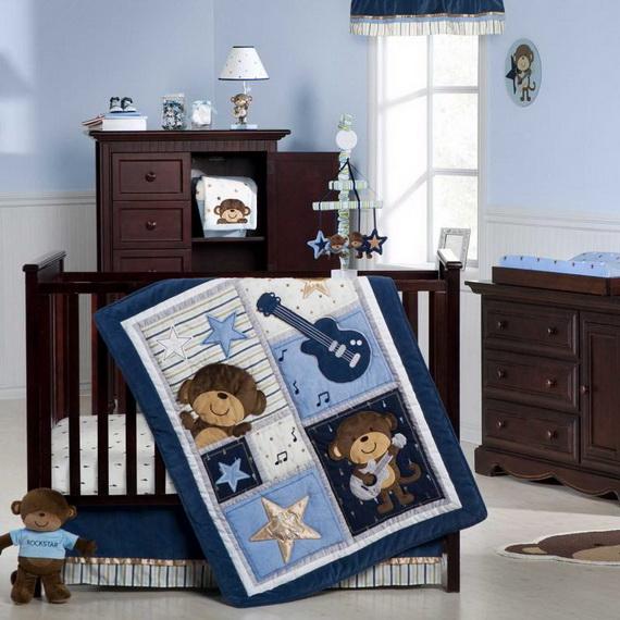 Monkey Baby Crib Bedding Theme and Design Ideas _38