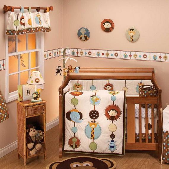 Monkey Baby Crib Bedding Theme and Design Ideas _41
