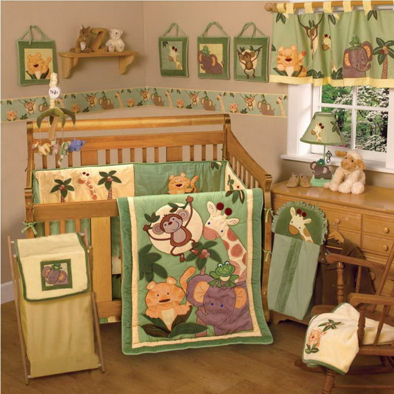 Monkey Baby Crib Bedding Theme and Design Ideas _42