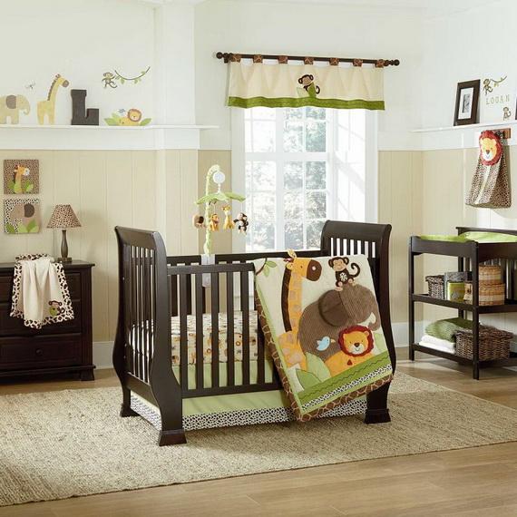 Monkey Baby Crib Bedding Theme and Design Ideas _44