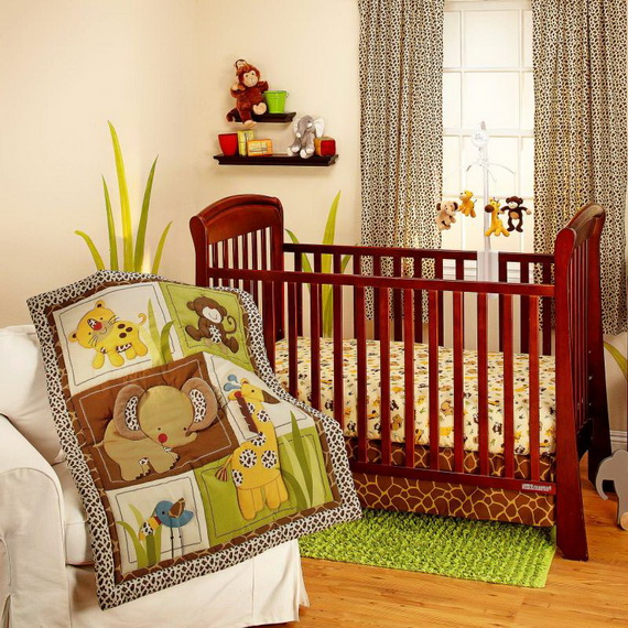 Monkey Baby Crib Bedding Theme and Design Ideas _46