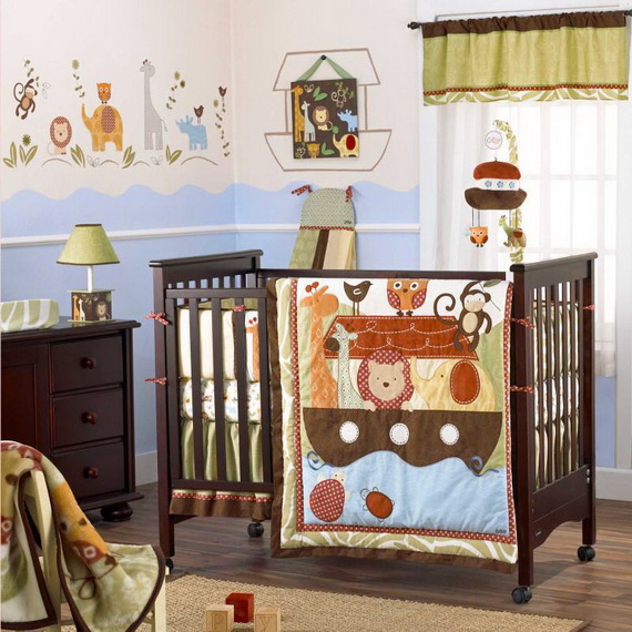 Monkey Baby Crib Bedding Theme and Design Ideas _50