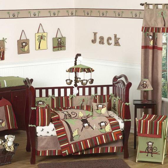 Monkey Baby Crib Bedding Theme and Design Ideas _52