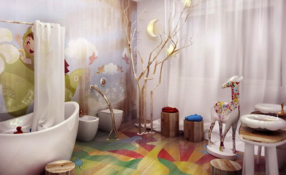 Stylish Bathroom Design Ideas for Kids 2014_14