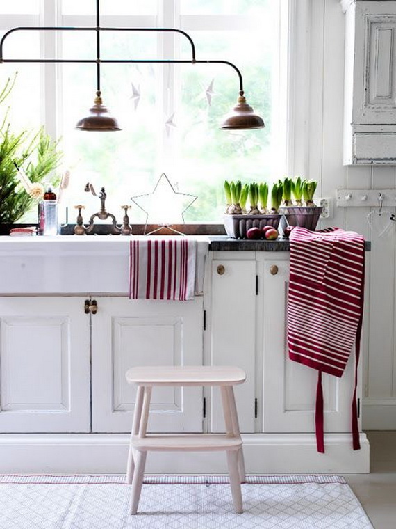Top Christmas Decor Ideas For A Cozy Kitchen _33