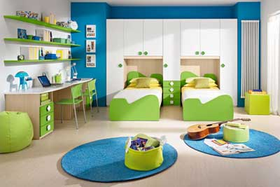 30 Vibrant and Lively Twin/ Kids Bedroom Designs