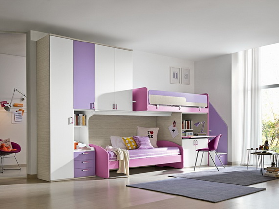 Vibrant and Lively Twin- Kids Bedroom Designs_08