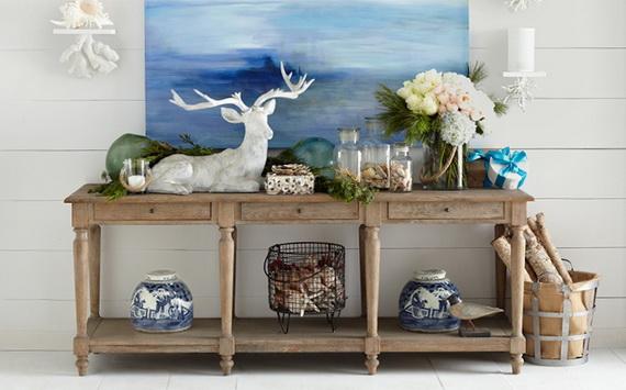 50 Magnificent Coastal-Themed Christmas Interior Decor_16