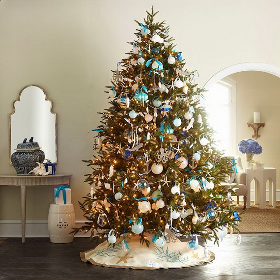 50 Magnificent Coastal-Themed Christmas Interior Decor_21