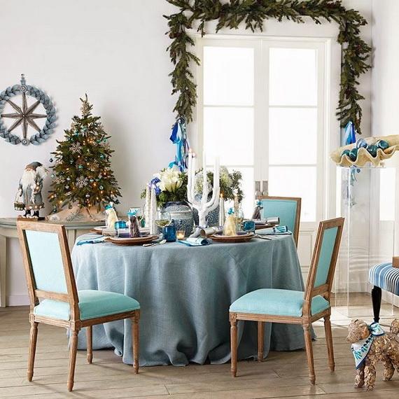50 Magnificent Coastal-Themed Christmas Interior Decor_25