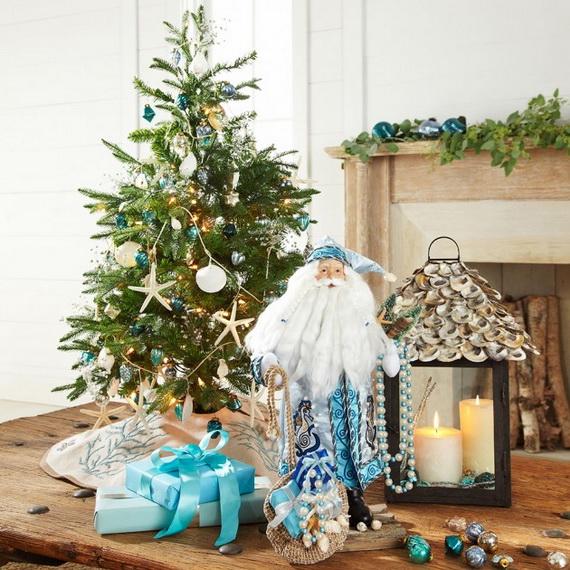 50 Magnificent Coastal-Themed Christmas Interior Decor_28