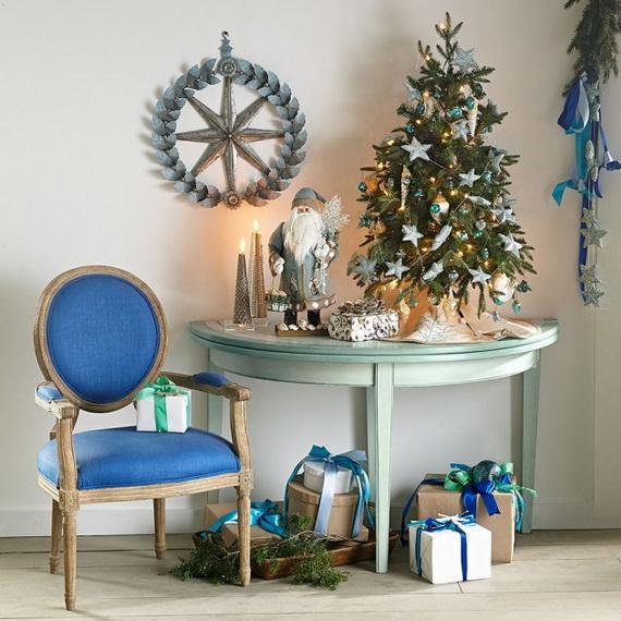 50 Magnificent Coastal-Themed Christmas Interior Decor_33