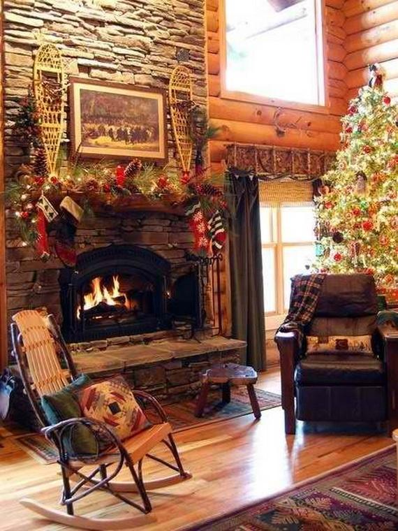 Elegant Christmas Country Living Room Decor Ideas 01