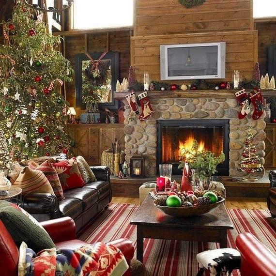 Elegant Christmas Country Living Room Decor Ideas 03