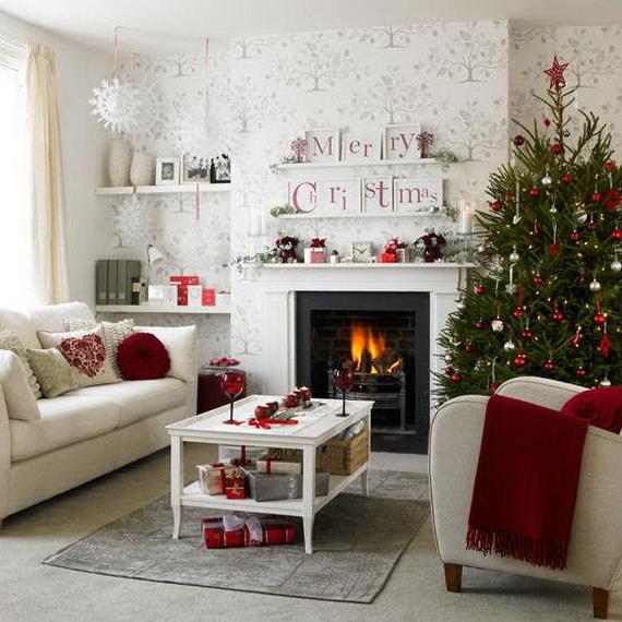 Elegant Christmas Country Living Room Decor Ideas_08
