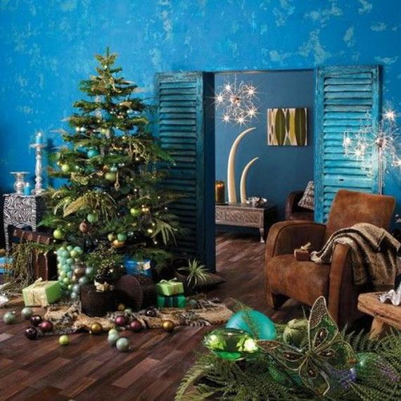 Elegant Christmas Country Living Room Decor Ideas_21