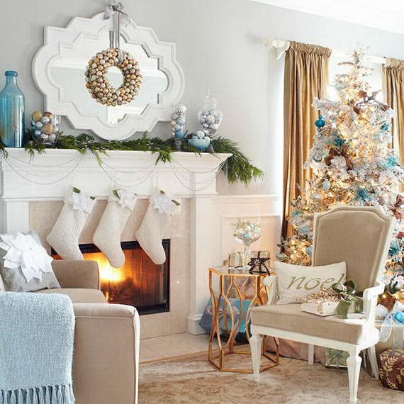 Elegant Christmas Country Living Room Decor Ideas_25