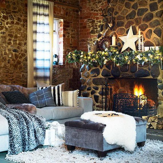 Elegant Christmas Country Living Room Decor Ideas_35
