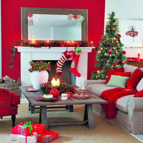 Elegant Christmas Country Living Room Decor Ideas_37
