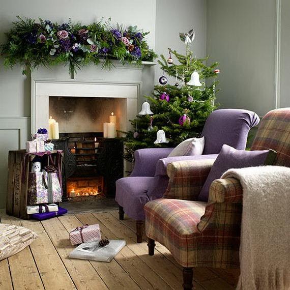 Elegant Christmas Country Living Room Decor Ideas_38
