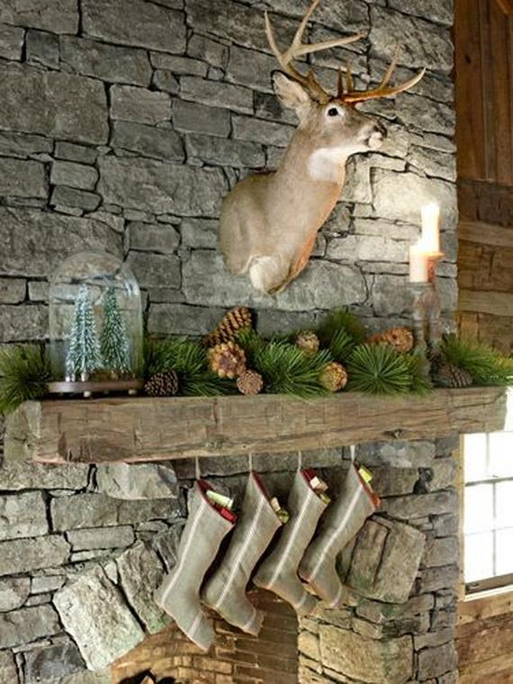 Elegant Christmas Country Living Room Decor Ideas_42
