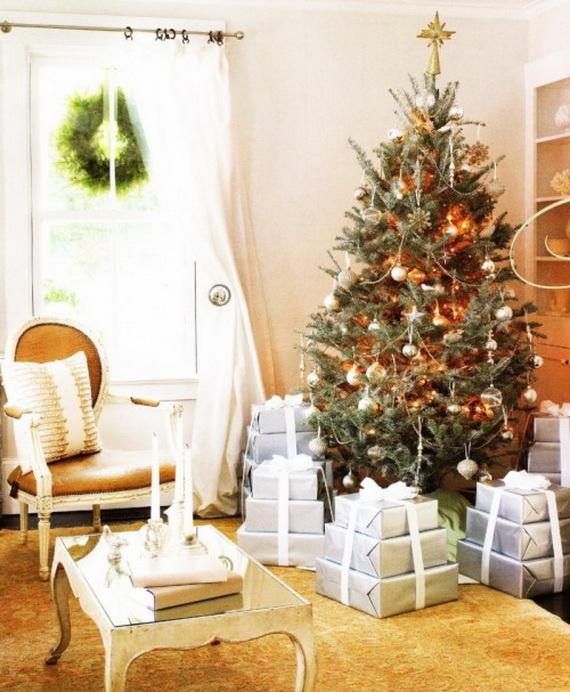 Elegant Christmas Country Living Room Decor Ideas_45