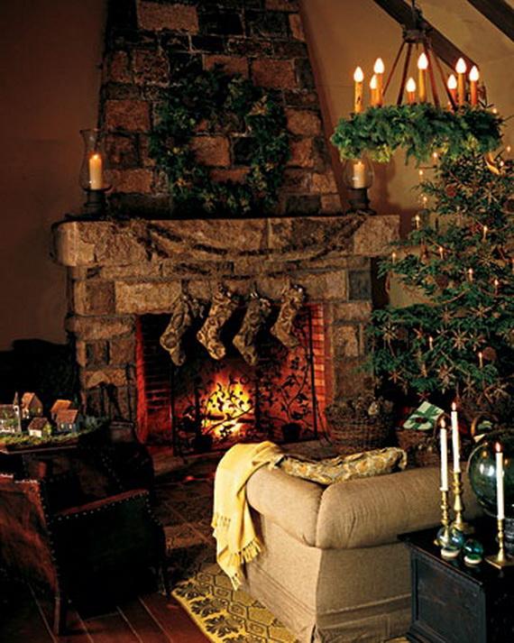 Elegant Christmas Country Living Room Decor Ideas_46