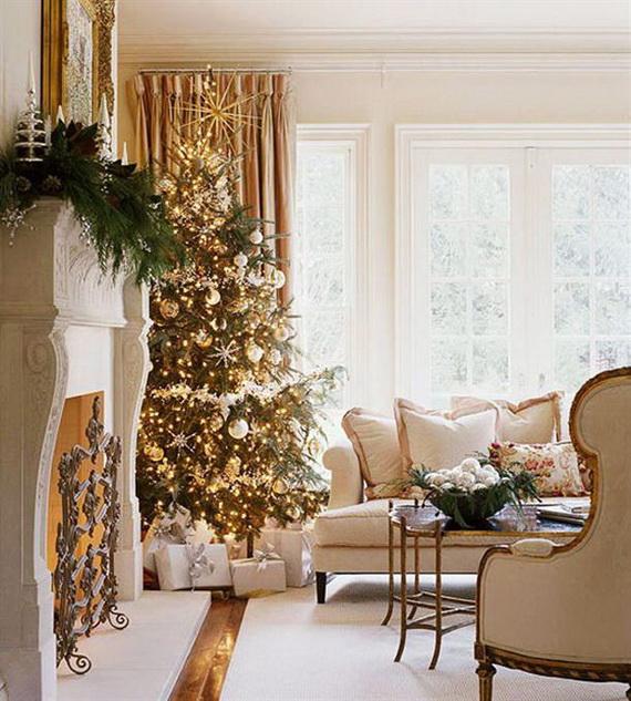 Elegant Christmas Country Living Room Decor Ideas_55