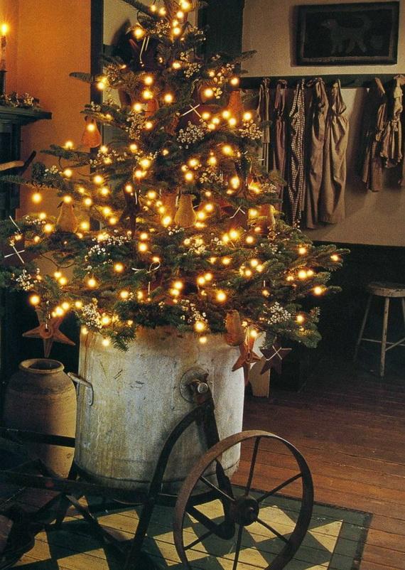 Elegant Christmas Country Living Room Decor Ideas_57