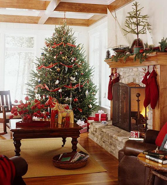 Elegant Christmas Country Living Room Decor Ideas_60