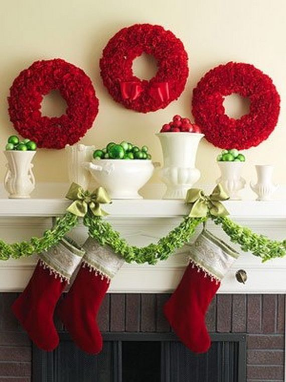 Gorgeous Fireplace Mantel Christmas Decoration Ideas _05