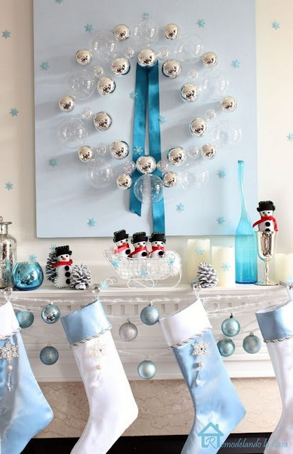 Gorgeous Fireplace Mantel Christmas Decoration Ideas _08