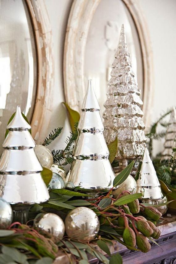 Gorgeous Fireplace Mantel Christmas Decoration Ideas _11
