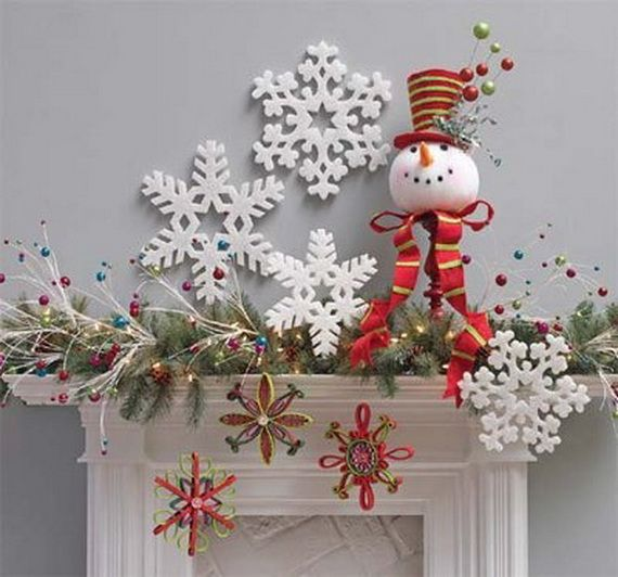 Gorgeous Fireplace Mantel Christmas Decoration Ideas _13