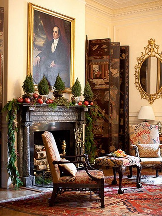 Gorgeous Fireplace Mantel Christmas Decoration Ideas _21