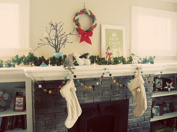 Gorgeous Fireplace Mantel Christmas Decoration Ideas _25
