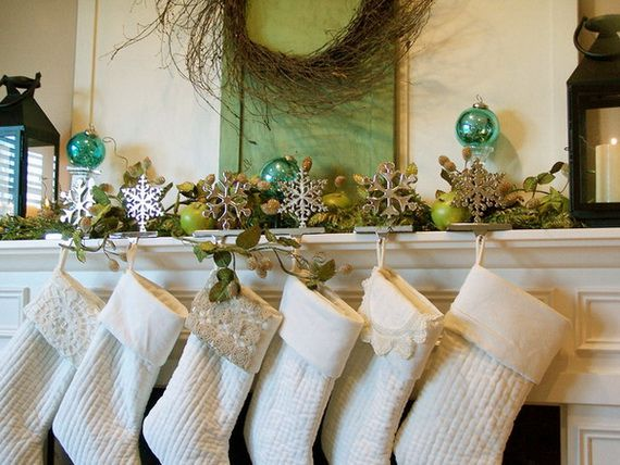 Gorgeous Fireplace Mantel Christmas Decoration Ideas _43
