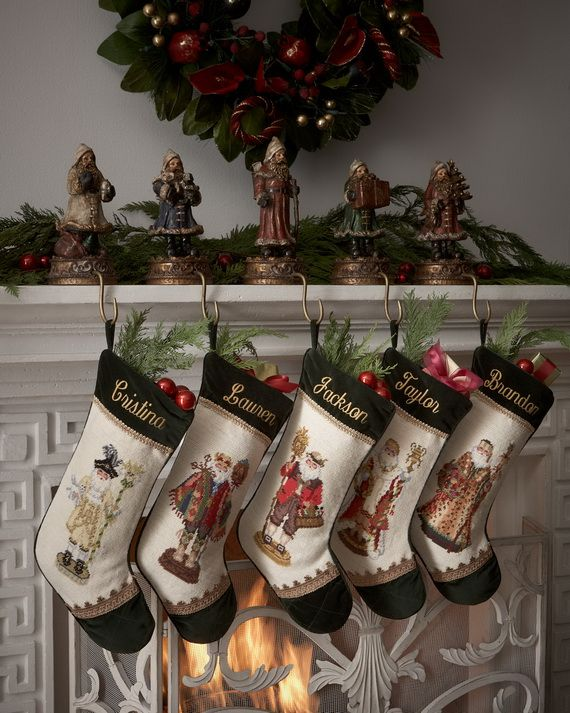 Gorgeous Fireplace Mantel Christmas Decoration Ideas _52