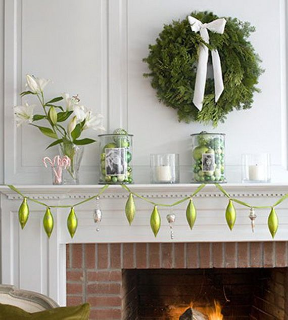 Gorgeous Fireplace Mantel Christmas Decoration Ideas _70