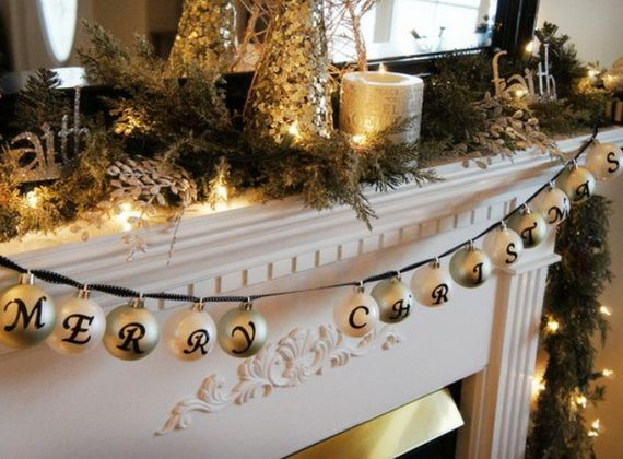 Gorgeous Fireplace Mantel Christmas Decoration Ideas _78