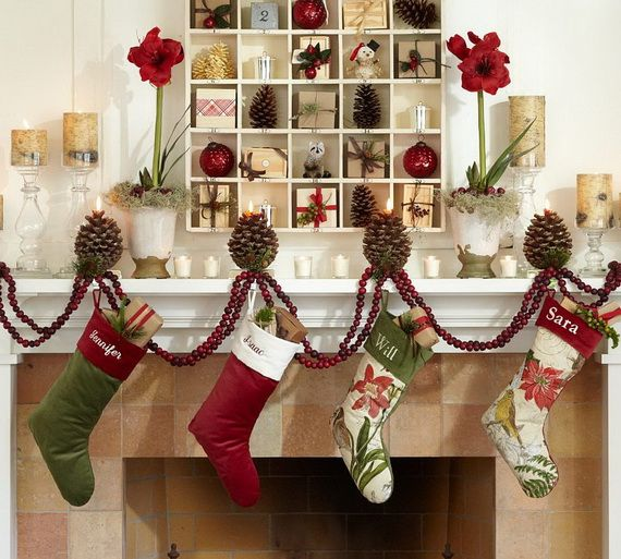 Gorgeous Fireplace Mantel Christmas Decoration Ideas _79