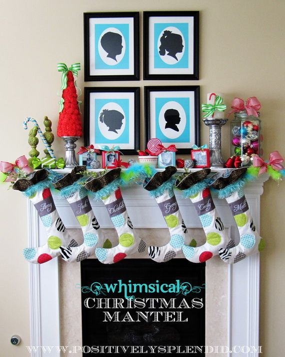 Gorgeous Fireplace Mantel Christmas Decoration Ideas _80