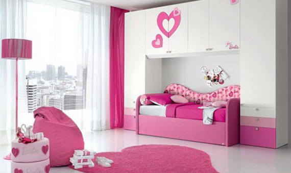 Heart Themed Interior Decor Kids Room Ideas_03